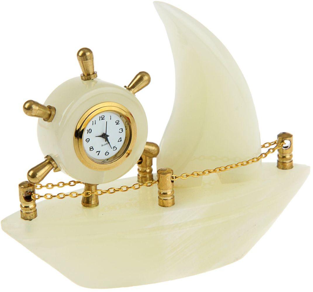 Часы Корабль 5  13х4х10,5 см оникс 244019 - Будильники