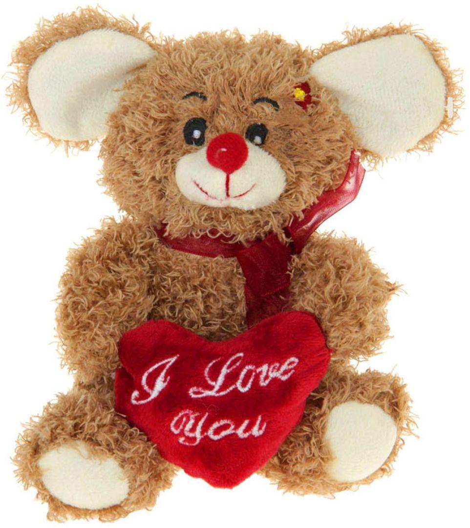 Sima-land Мягкая игрушка Мышка-кудряшка с сердцем 309556