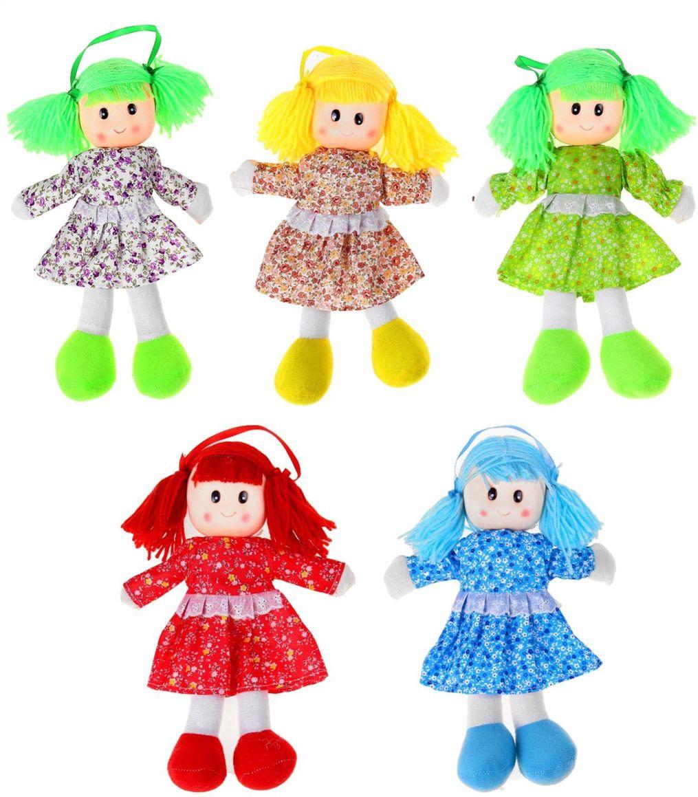 Sima-landМягкая кукла в платье с кружевом цвет синий Сима-ленд
