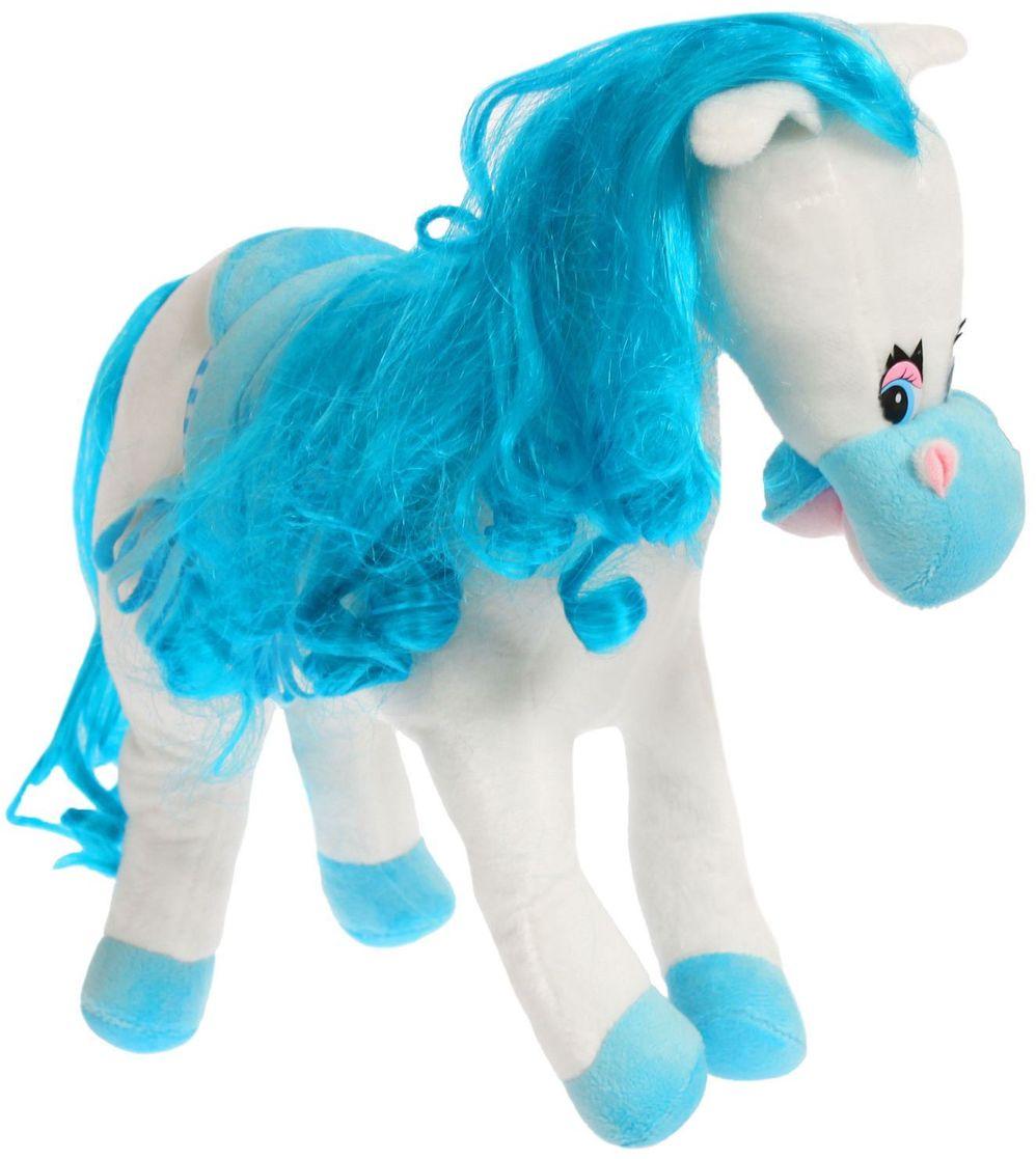 Sima-land Мягкая игрушка Лошадь с кудрявой гривой и попоной 327090 sima land мягкая игрушка на руку мальчик 1147835