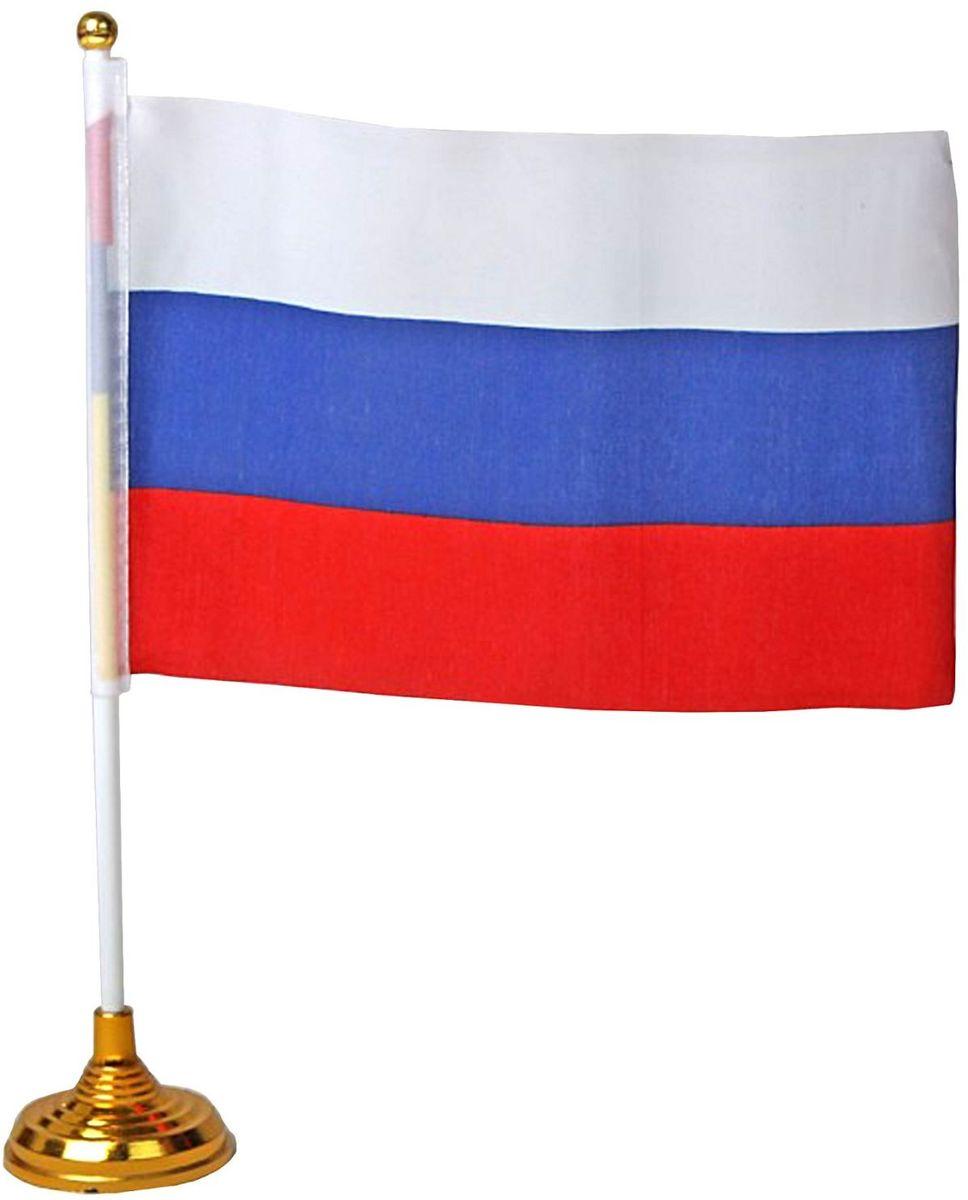 Флаг Sima-land Россия, со штоком, 14 х 21 см цена