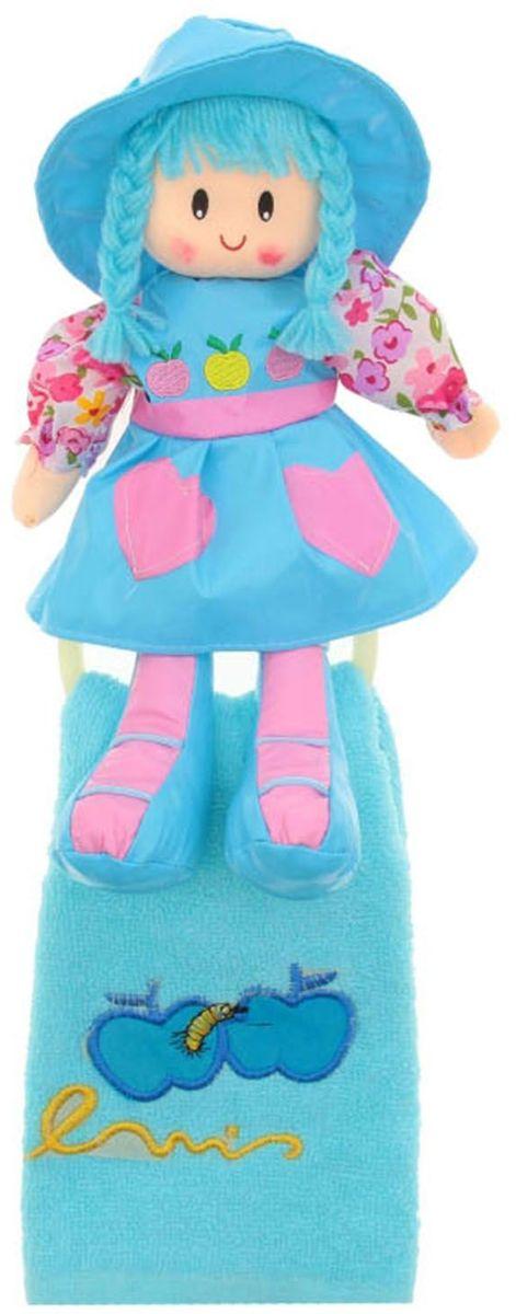 Sima-land Мягкая кукла Оля с держателем и полотенцем цвет голубой sima land мягкая кукла оля с держателем и полотенцем цвет желтый