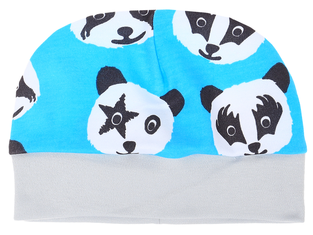 Чепчик детский КотМарКот, цвет: голубой. 8520. Размер 448520Чепчик КотМарКот выполнен из натурального хлопка и оформлен оригинальным принтом с пандами.Модель по низу дополнена широкой резинкой.
