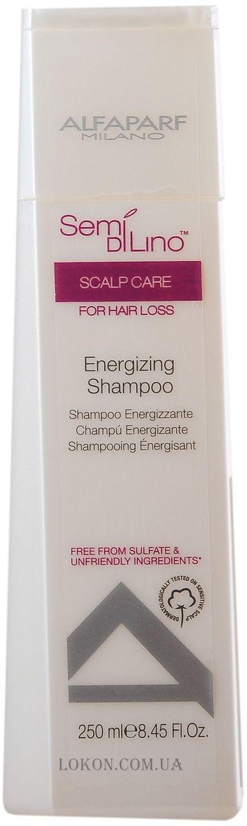 Alfaparf Semi Di Lino Scalp Energizing Shampoo Шампунь энергетический против выпадения волос, 250 мл alfaparf разглаживающий шампунь для непослушных волос semi di lino discipline frizz control shampoo 250 мл