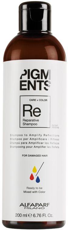 Alfaparf Pigments Reparative Shampoo Шампунь восстанавливающий для поврежденных волос, 200 мл14097Мягкий шампунь предназначен для восстановления поврежденных волос. Специально разработанная формула поддерживает цвет и гарантирует стабильность пигмента в смеси. Входящие в состав пептиды шелка бережно укрепляют структуру, уделяя особое внимание поврежденным участкам волоса, уплотняют и укрепляют кутикулу. Волосы становятся мягкими, блестящими и послушными.Объем: 200 мл