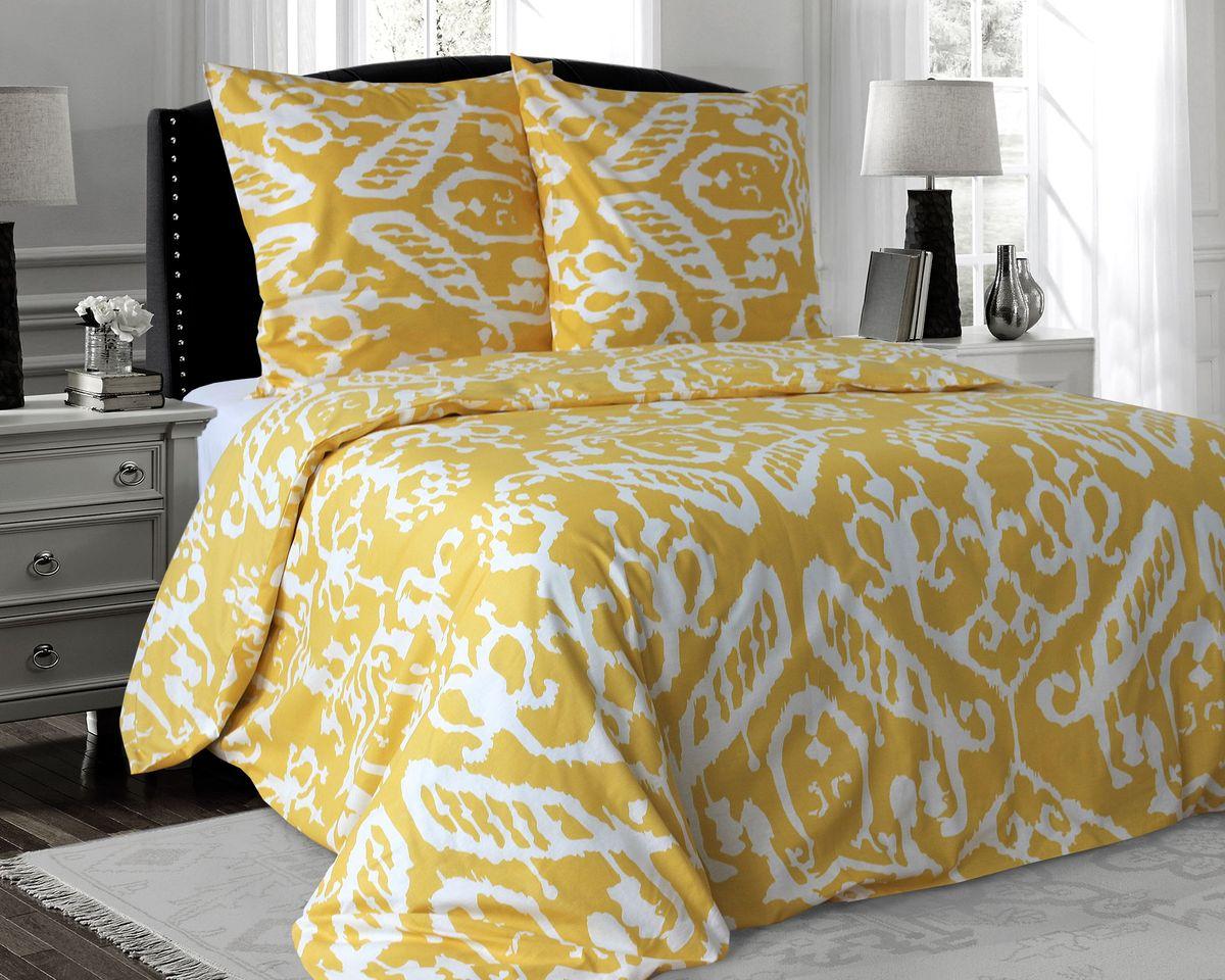 Комплект белья Коллекция Узоры на желтом, 2-спальный, наволочки 50x70ПРКЛ2/50/ОЗ/узКомплект постельного белья включает в себя четыре предмета: простыню, пододеяльник и две наволочки, выполненные из поплина.Размер пододеяльника: 175 x 210 см.Размер простыни: 180 x 215 см.Размер наволочек: 50 x 70 см.