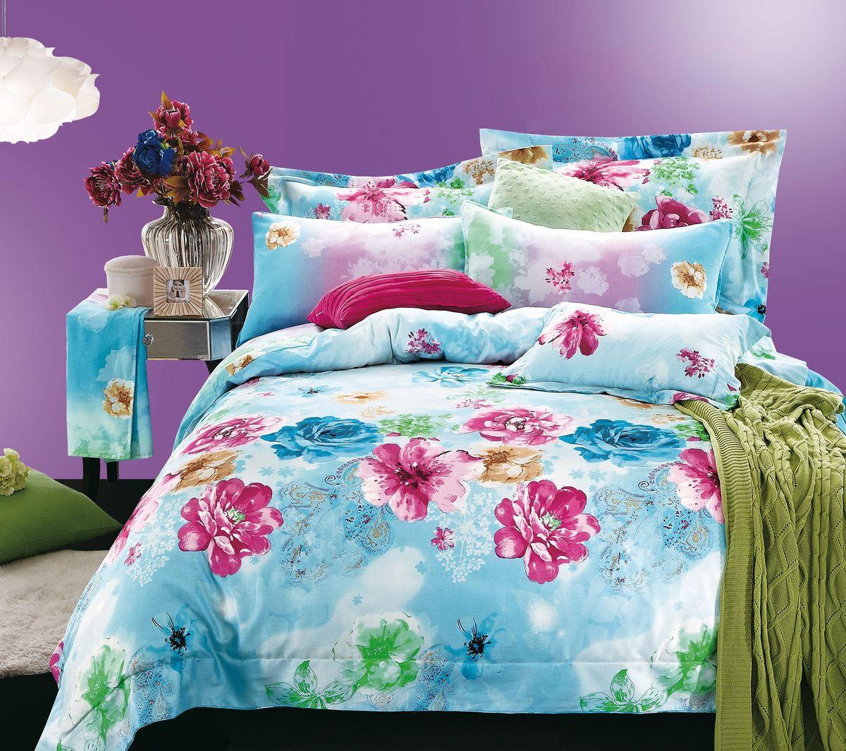 Комплект белья Коллекция Цветы, 2-спальный, наволочки 50x70. СЛ2/50/ОЗ/цвСЛ2/50/ОЗ/цвКомплект постельного белья Коллекция Цветы является экологически безопасным для всей семьи, так как выполнен из высококачественного сатина (100% хлопка). Комплект состоит из пододеяльника, простыни и двух наволочек. Сатин - производится из высших сортов хлопка, а своим блеском и легкостью напоминает шелк. Постельное белье из сатина превращает жаркие летние ночи в прохладные и освежающие, а холодные зимние - в теплые и согревающие.Советы по выбору постельного белья от блогера Ирины Соковых. Статья OZON Гид