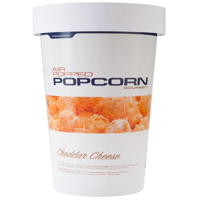 CorinCorn Сыр Чеддер попкорн готовый, 90 г corincorn соленый попкорн готовый 45 г