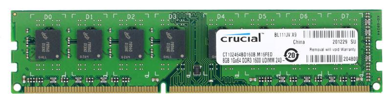Crucial DDR3 8GB 1600МГц модуль оперативной памятиCT102464BD160BНебуферезированная память Crucial DDR3 предоставляет качество работы, надежность и производительность, требуемую для современных компьютеров сегодня. Этот модуль емкостью 8 ГБ, спроектирован для работы на частоте 1600 МГц PC3-12800 при таймингах CL-11.Как собрать игровой компьютер. Статья OZON Гид