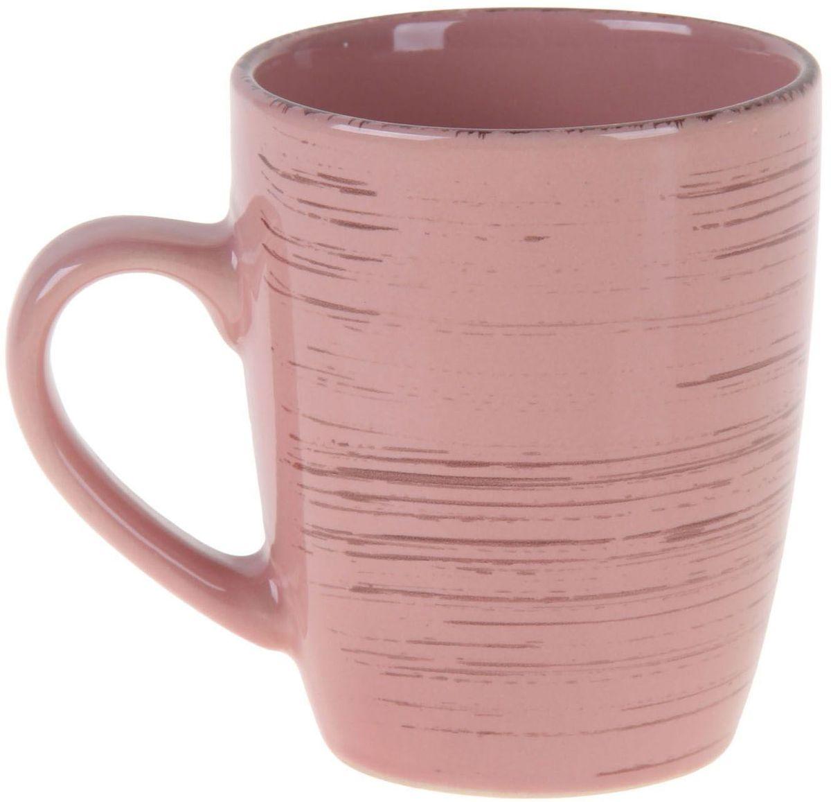Кружка Доляна Пастель, цвет: розовый, бежевый, 300 мл103326Кружка Доляна Пастель изготовлена из качественной прочной керамики с глазурованным покрытием. Поверхность устойчива к сколам и царапинам, а цвет сохраняет насыщенность при долговременном использовании. Традиционный стиль и приятный цвет делают предмет подходящим для домашнего и профессионального использования. Кружка станет любимым аксессуаром на долгие годы. Относитесь к изделию бережно, и оно будет дарить прекрасное настроение каждый день. Легко моется в посудомоечной машине, можно ставить в холодильник и СВЧ-печь.