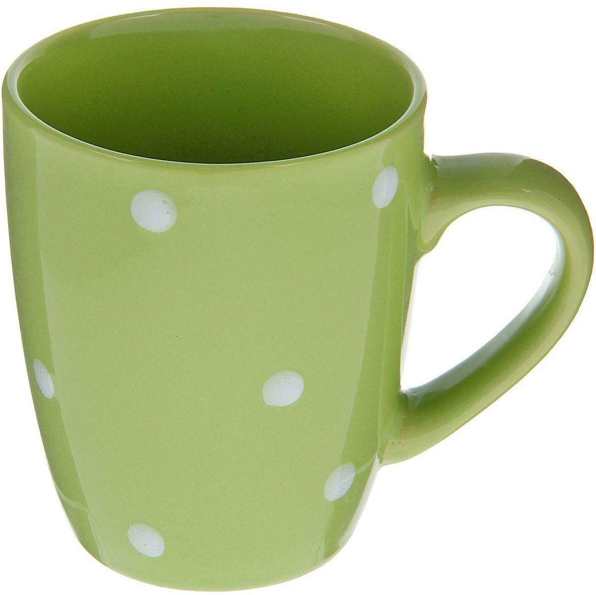 Кружка Доляна Зеленый горох, 360 мл кружка доляна радуга цвет желтый белый 300 мл