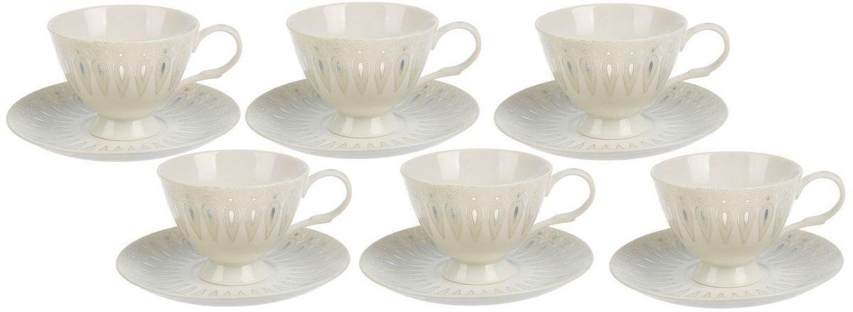 Сервиз чайный Доляна Эви, 12 предметов1610266Новый сервиз привнесёт в интерьер нотки нежности. Элегантные изделия из высококачественной керамики станут украшением вашего стола на долгие годы.Достоинства:материал сохраняет тепло в течение долгого времени;классический дизайн придётся по вкусу ценителям всего необычного;гладкая поверхность легко отмывается.Чтобы посуда радовала безукоризненным внешним видом как можно дольше, следуйте простым правилам ухода:мойте вручную;пользуйтесь мягкими губками;избегайте ударов и падений изделий.