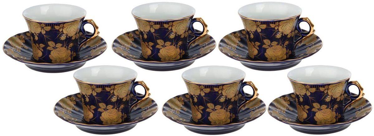 Сервиз чайный Доляна Роза ветров, 12 предметов1610278Оригинальный сервиз привносит в дом атмосферу необыкновенного уюта и гостеприимства. Предметы выполнены из керамики с добавлением костного порошка. Посуда проходит несколько этапов обжига. Нежный рисунок сохраняет насыщенность цвета долгое время. Золотистый кант - дань уважения классическим традициям. Элегантная упаковка делает набор прекрасным подарком близкому человеку.