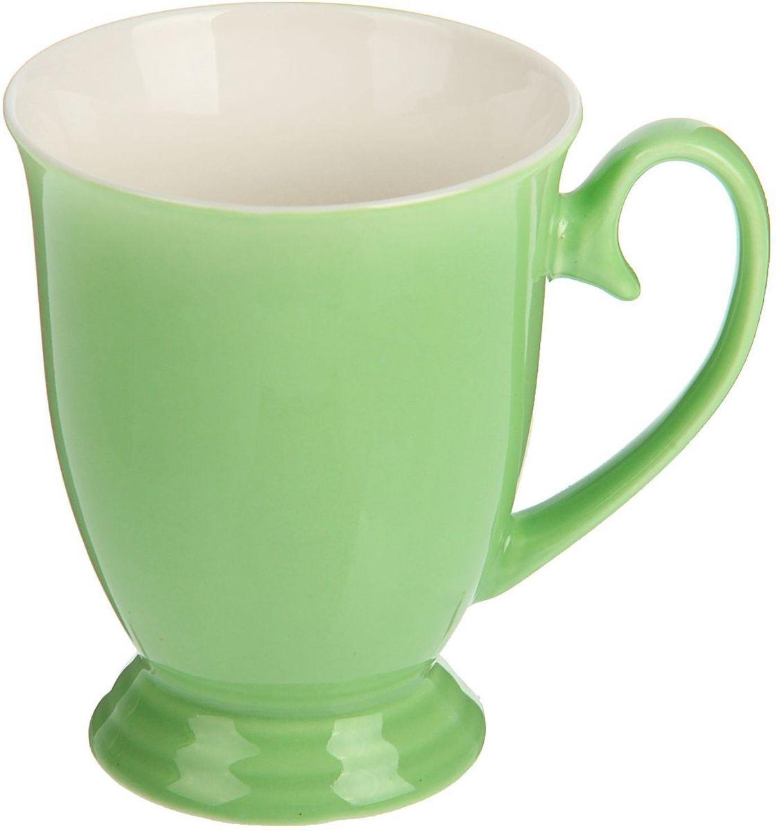 Кружка Доляна Венеция, цвет: зеленый, 300 мл1625285Кружка Доляна Венеция изготовлена из керамики. Кружка станет отличным подарком для родных и близких. Это любимый аксессуар на долгие годы.Относитесь к изделию бережно, и оно будет дарить прекрасное настроение каждый день.