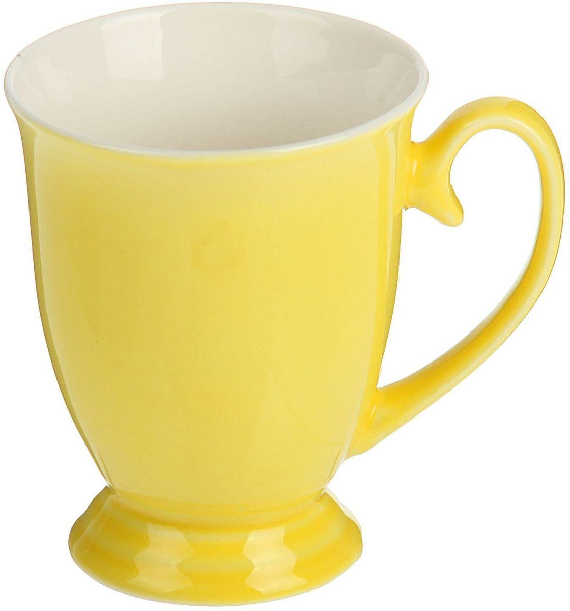 Кружка Доляна Венеция, цвет: желтый, 300 мл1625305Кружка Доляна Венеция изготовлена из керамики.Кружка станет отличным подарком для родных и близких. Это любимый аксессуар на долгие годы. Относитесь к изделию бережно, и оно будет дарить прекрасное настроение каждый день.