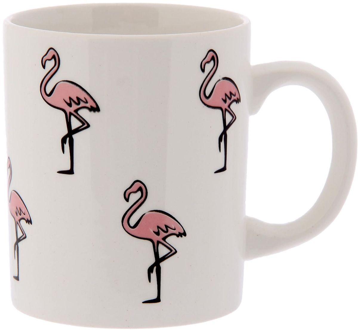 Кружка Сотвори чудо Розовый фламинго, 320 мл2277841Хотите обновить интерьер кухни или гостиной? Устраиваете необычную фотосессию или тематический праздник? А может, просто ищете подарок для близкого человека?Кружка станет любимым аксессуаром на долгие годы. Относитесь к изделию бережно, и оно будет дарить прекрасное настроение каждый день!