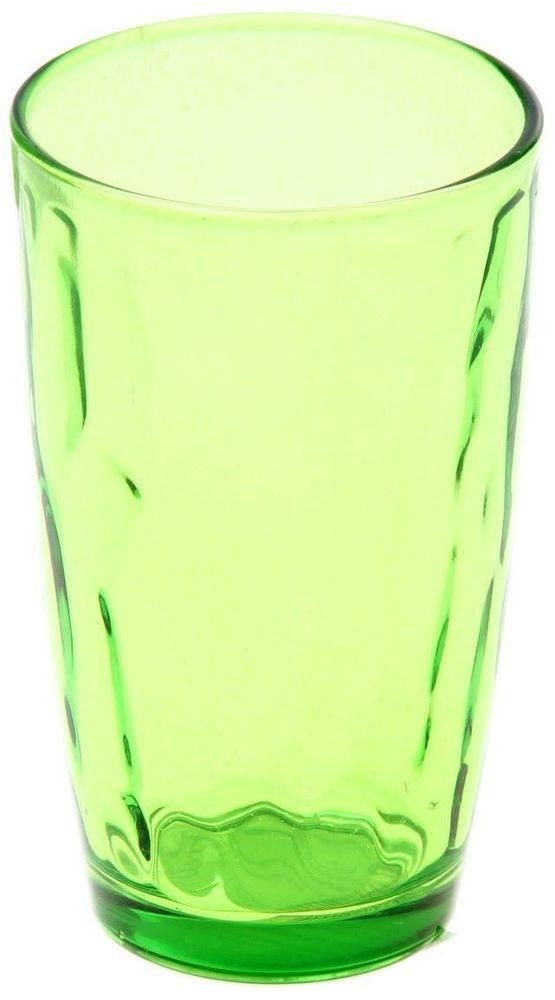 Стакан Доляна Венский вальс, цвет: зеленый, 340 мл335154Стеклянные изделия серии «Венский вальс» подходят для повседневного использования. Стакан из стекла, окрашенного в яркий цвет методом напыления, порадует каждого ценителя оригинальности.Достоинства:оригинальный дизайн делает предметы украшением интерьера;материал не впитывает запахов;поверхность легко отмывается.Чтобы предметы радовали внешним видом как можно дольше, соблюдайте правила ухода:мойте только вручную;избегайте использования высокоабразивных средств и металлических губок;не допускайте падений и ударов.Окружайте себя красивой посудой и будьте в хорошем настроении!