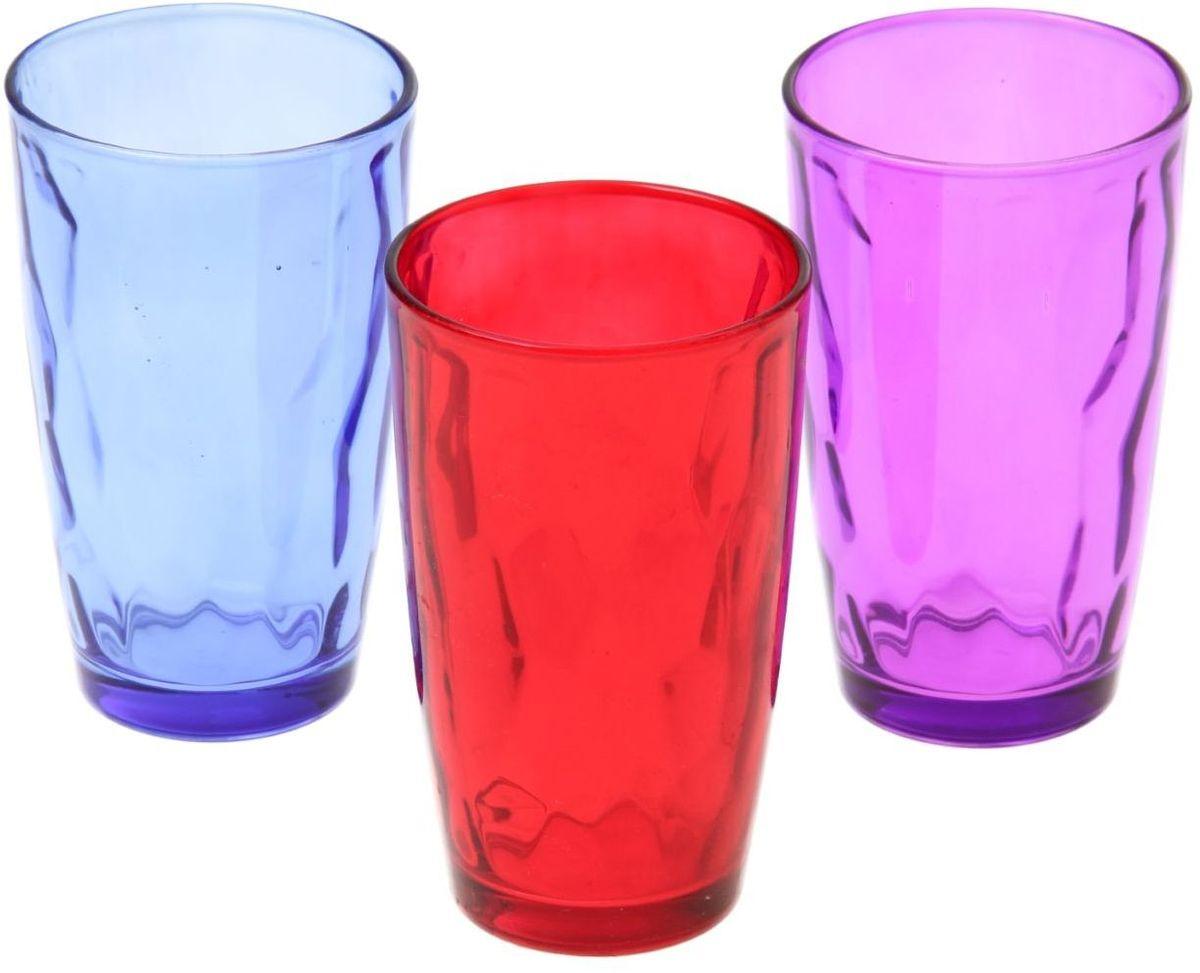 Набор стаканов Доляна Венский вальс. Весна, 340 мл, 3 шт335158Набор стаканов Доляна Венский вальс подходит для повседневного использования. Набор состоит из 3 стаканов. Они выполнены из прозрачного стекла, окрашенного в яркий цвет, и порадуют каждого ценителя качественной посуды.Достоинства:- оригинальный дизайн делает предметы украшением интерьера;- материал не впитывает запахов;- поверхность легко отмывается.Чтобы предметы радовали внешним видом как можно дольше, соблюдайте простые правила ухода:мойте только вручную;избегайте использования высокоабразивных средств и металлических губок;не допускайте падений и ударов.