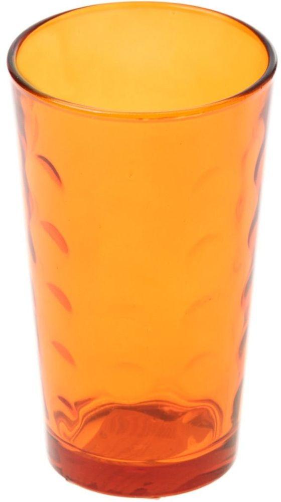 Стакан Доляна Маскарад, цвет: оранжевый, 340 мл335161Стеклянные изделия серии «Маскарад» подходят для повседневного использования. Стакан из стекла, окрашенного в яркий цвет методом напыления, порадует каждого ценителя оригинальности.Достоинства:оригинальный дизайн делает предмет украшением интерьера;материал не впитывает запахов;поверхность легко отмывается.Чтобы предмет радовал внешним видом как можно дольше, соблюдайте правила ухода:мойте только вручную;избегайте использования высокоабразивных средств и металлических губок;не допускайте падений и ударов.Окружайте себя красивой посудой и будьте в хорошем настроении!
