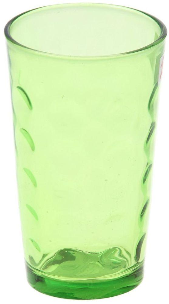 Стакан Доляна Маскарад, цвет: зеленый, 340 мл335162Стеклянные изделия серии «Маскарад» подходят для повседневного использования. Стакан из стекла, окрашенного в яркий цвет методом напыления, порадует каждого ценителя оригинальности.Достоинства:оригинальный дизайн делает предмет украшением интерьера;материал не впитывает запахов;поверхность легко отмывается.Чтобы предмет радовал внешним видом как можно дольше, соблюдайте правила ухода:мойте только вручную;избегайте использования высокоабразивных средств и металлических губок;не допускайте падений и ударов.Окружайте себя красивой посудой и будьте в хорошем настроении!