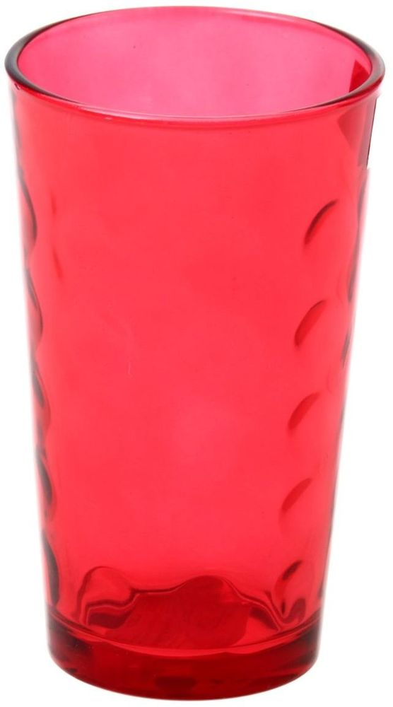 Стакан Доляна Маскарад, цвет: красный, 340 мл335165Стеклянные изделия серии «Маскарад» подходят для повседневного использования. Стакан из стекла, окрашенного в яркий цвет методом напыления, порадует каждого ценителя оригинальности.Достоинства:оригинальный дизайн делает предмет украшением интерьера;материал не впитывает запахов;поверхность легко отмывается.Чтобы предмет радовал внешним видом как можно дольше, соблюдайте правила ухода:мойте только вручную;избегайте использования высокоабразивных средств и металлических губок;не допускайте падений и ударов.Окружайте себя красивой посудой и будьте в хорошем настроении!