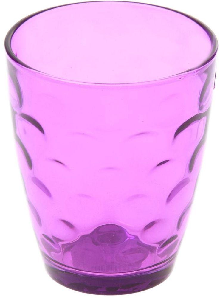 Стакан Доляна Венский вальс, цвет: фиолетовый, 400 мл335172Стакан Венский вальс подходит для повседневного использования. Стакан, изготовленный изстекла, окрашенного в яркий цвет методом напыления, порадует каждого ценителяоригинальности. Достоинства: оригинальный дизайн делает предметы украшением интерьера; материал не впитывает запахов; поверхность легко отмывается. Окружайте себя красивой посудой и будьте в хорошем настроении!