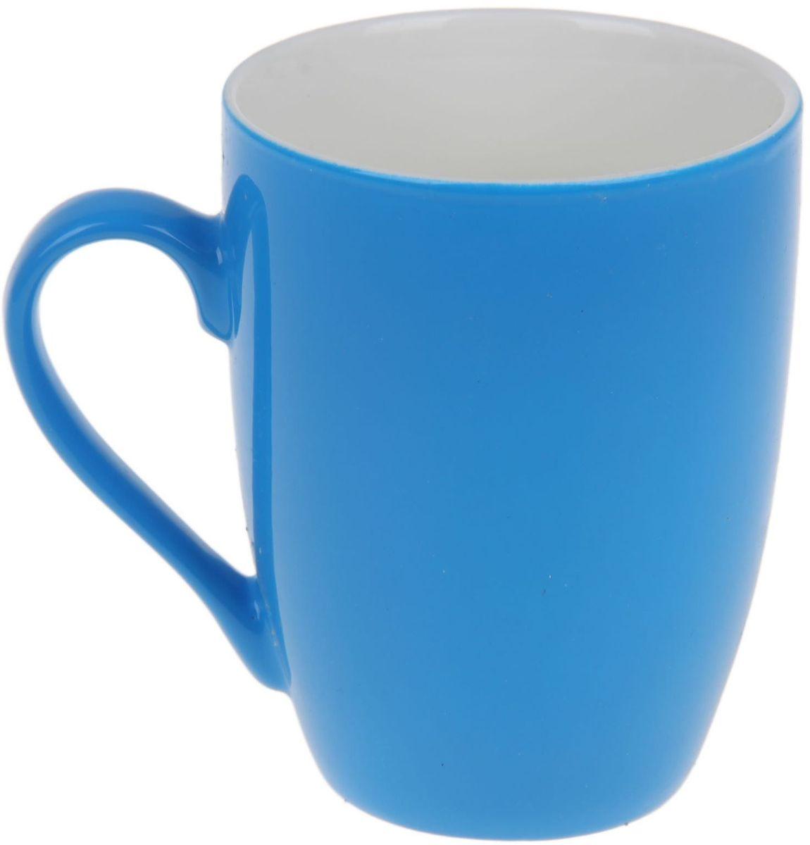Кружка Доляна Радуга, цвет: голубой, белый, 300 мл699260Кружка Доляна Радуга изготовлена из высококачественной керамики и покрыта превосходной сверкающей глазурью. Изделие имеет яркий дизайн.Такая кружка прекрасно оформит стол к чаепитию и станет его неизменным атрибутом.Диаметр кружки (по верхнему краю): 8 см.Высота кружки: 10,5 см.