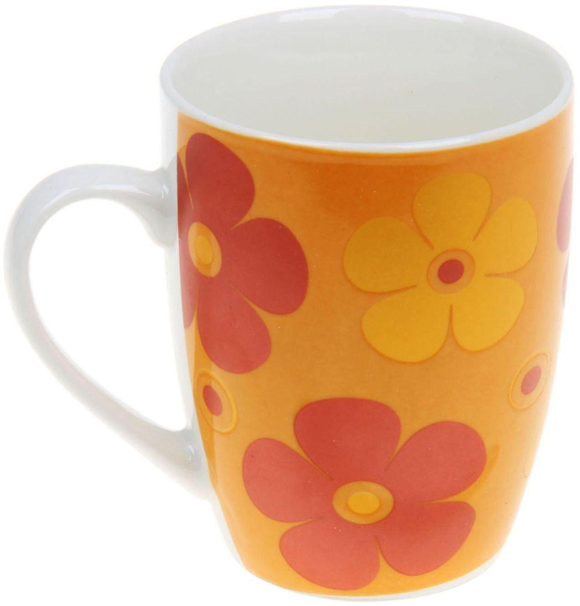 Кружка Доляна Радуга цветов, 300 мл кружка доляна радуга цвет желтый белый 300 мл