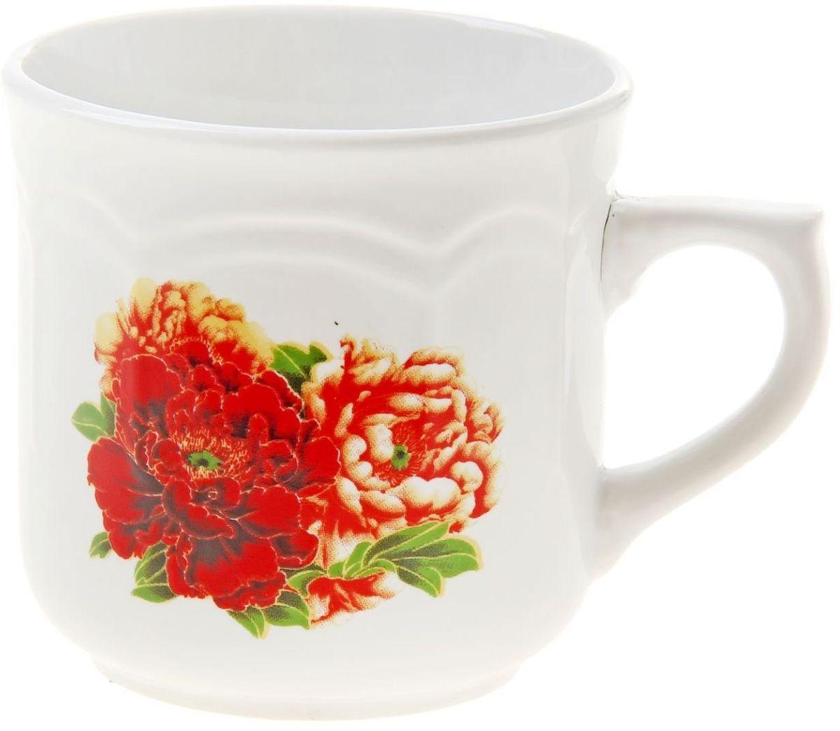 Кружка Доляна Розы, 290 мл863667Кружка Доляна Розы изготовлена из керамики. Она украшена оригинальным принтом с яркими цветами. Кружка станет отличным подарком для родных и близких. Это любимый аксессуар на долгие годы.Относитесь к изделию бережно, и оно будет дарить прекрасное настроение каждый день.