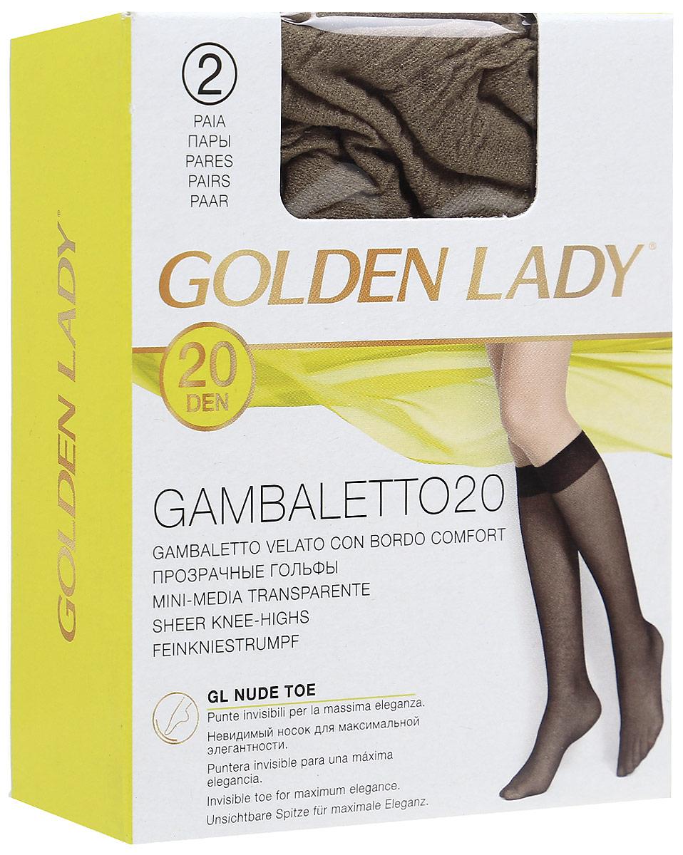 Гольфы Golden Lady Gambaletto 20, цвет: Daino (загар), 2 пары. Размер универсальныйGambaletto 20Тонкие полиамидные гольфы Golden Lady с комфортной резинкой.