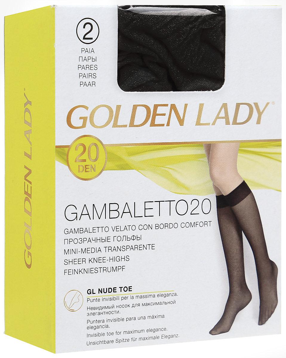 Гольфы Golden Lady Gambaletto 20, цвет: Nero (черный), 2 пары. Размер универсальныйGambaletto 20Тонкие полиамидные гольфы Golden Lady с комфортной резинкой.