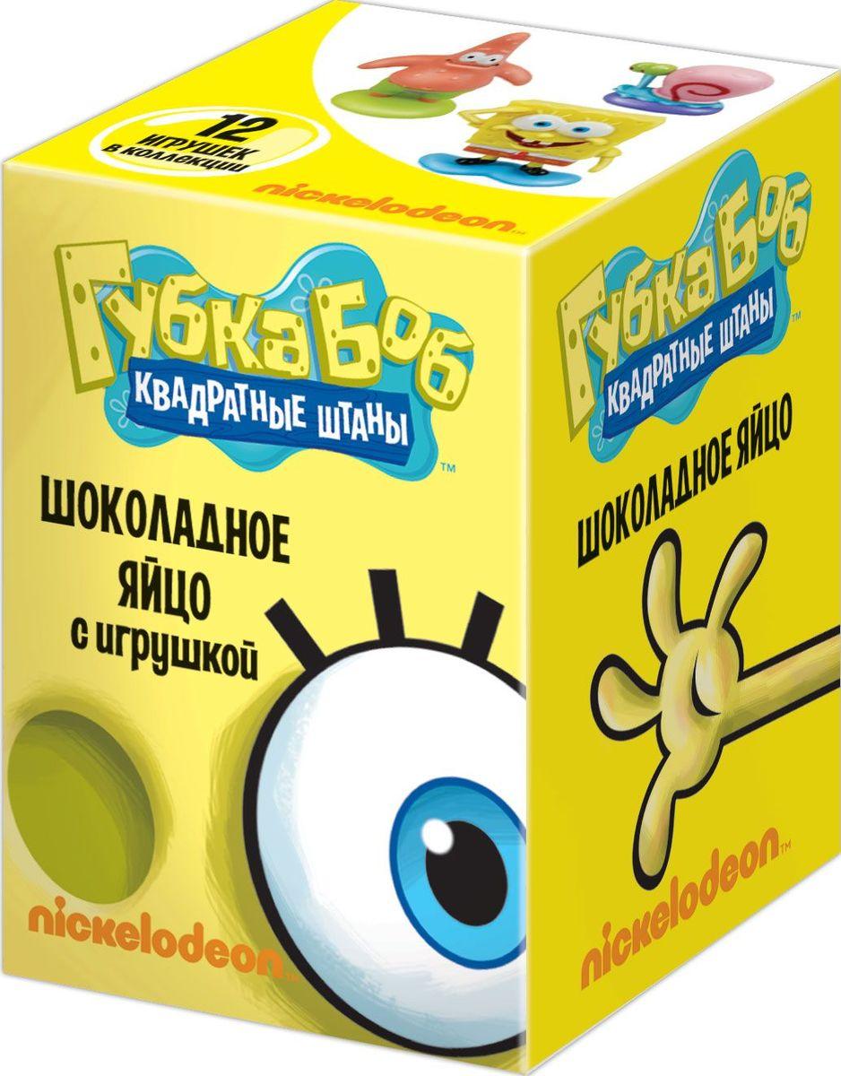 Sponge Bob молочный шоколад с сюрпризом, 20 гУТ12891Натуральный молочный шоколад. Подарочная упаковка. Коллекция из 12 фигурок.