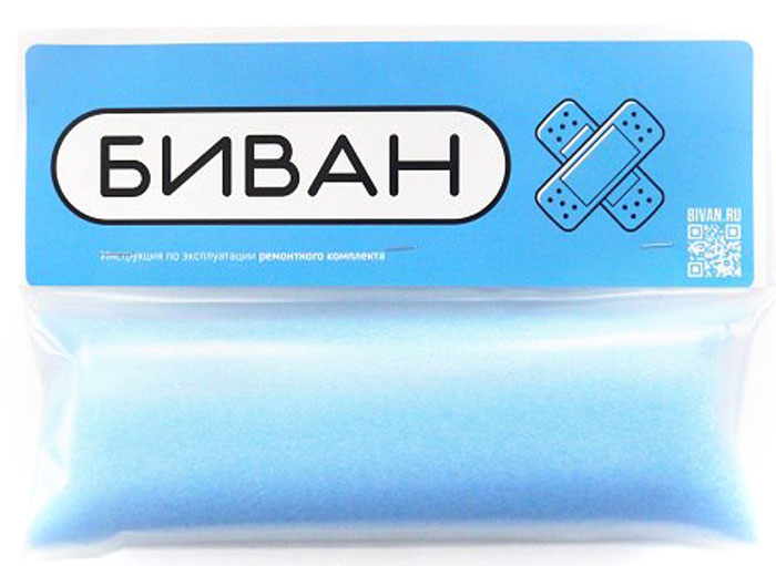 Комплект для ремонта надувного дивана Биван, цвет: прозрачный8009Комплект для ремонта Бивана
