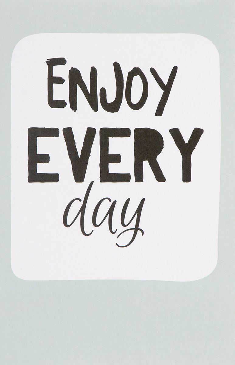 Enjoy Every Day (light blue). Блокнот для записей ubear light 3000 white light blue внешний аккумулятор