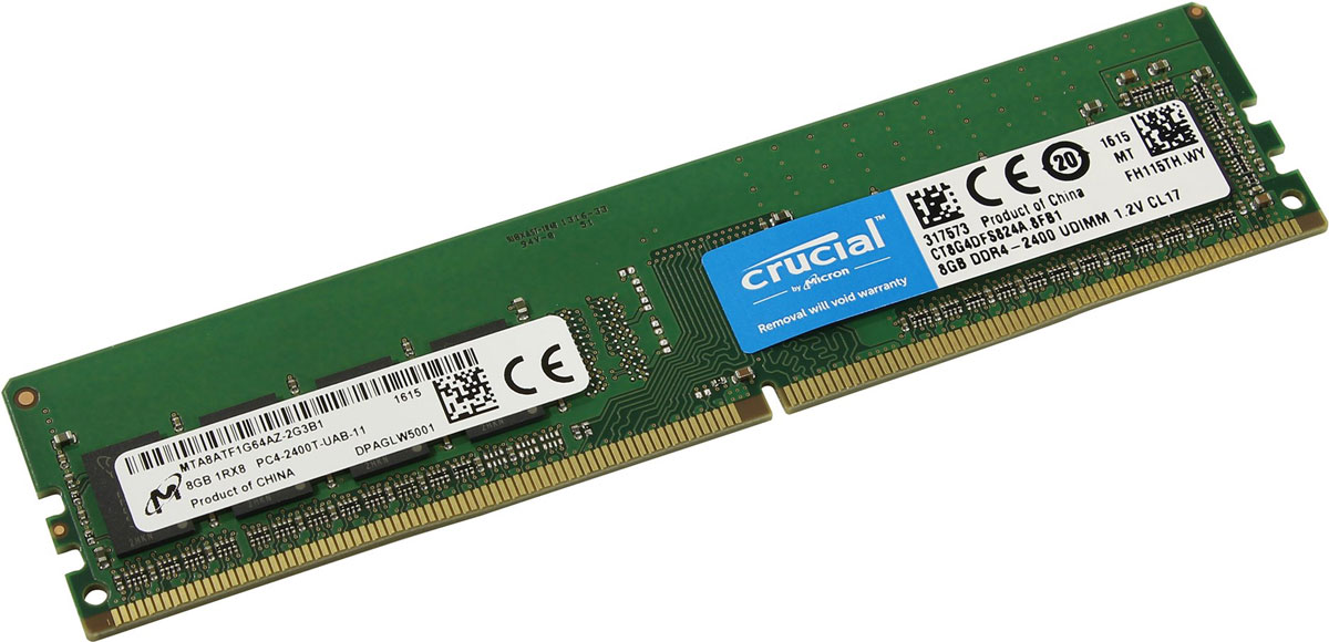 Crucial Single Rank DDR4 8GB 2400МГц модуль оперативной памяти цена