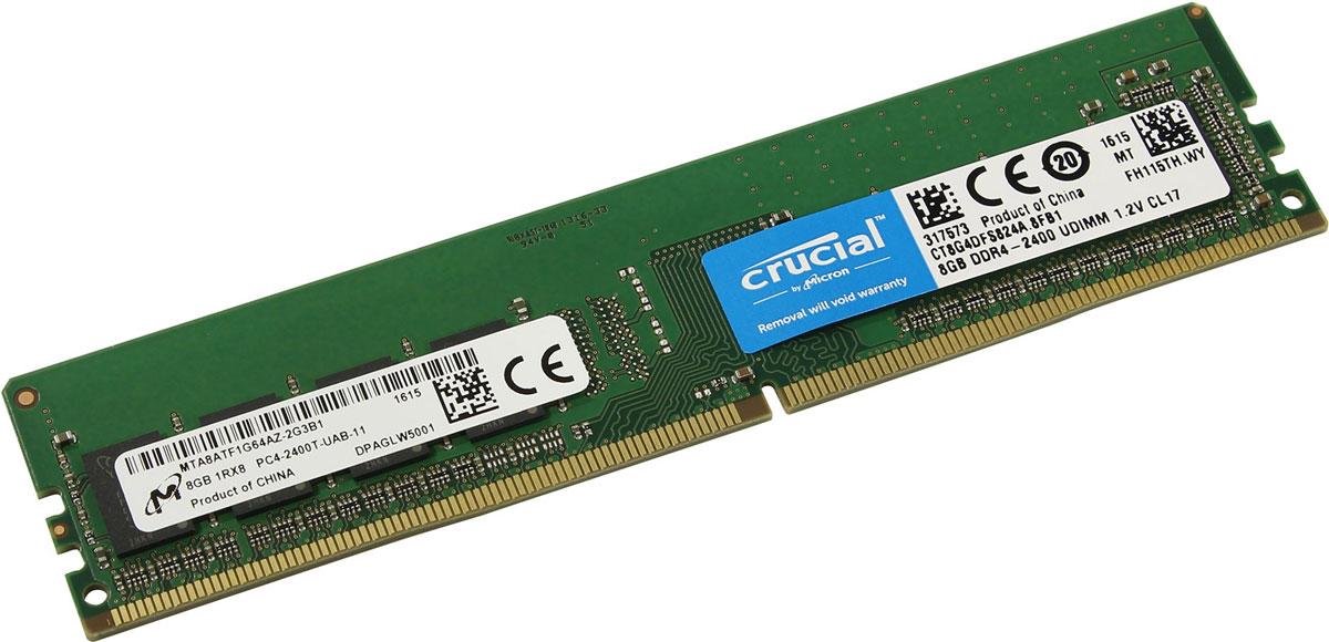 Crucial Single Rank DDR4 8GB 2400МГц модуль оперативной памятиCT8G4DFS824AПри производстве оперативной памяти Crucial CT8G4DFS824A использовались только передовые технологи, с использованием качественных и прочных материалов, которые после установки в системный блок позволят компьютеру работать быстро, плавно, без зависаний. DDR4 обеспечивает повышенную производительность, увеличенную емкость DIMM, улучшенную целостность данных и пониженное энергопотребление. Мощная начинка способна работать с частотой 2400 МГц, а пропускная способность достигает 19200 Мб/с. Объем памяти составляет - 8 гигабайт. Отличные характеристики, которые смогут удовлетворить потребности большинства пользователей.