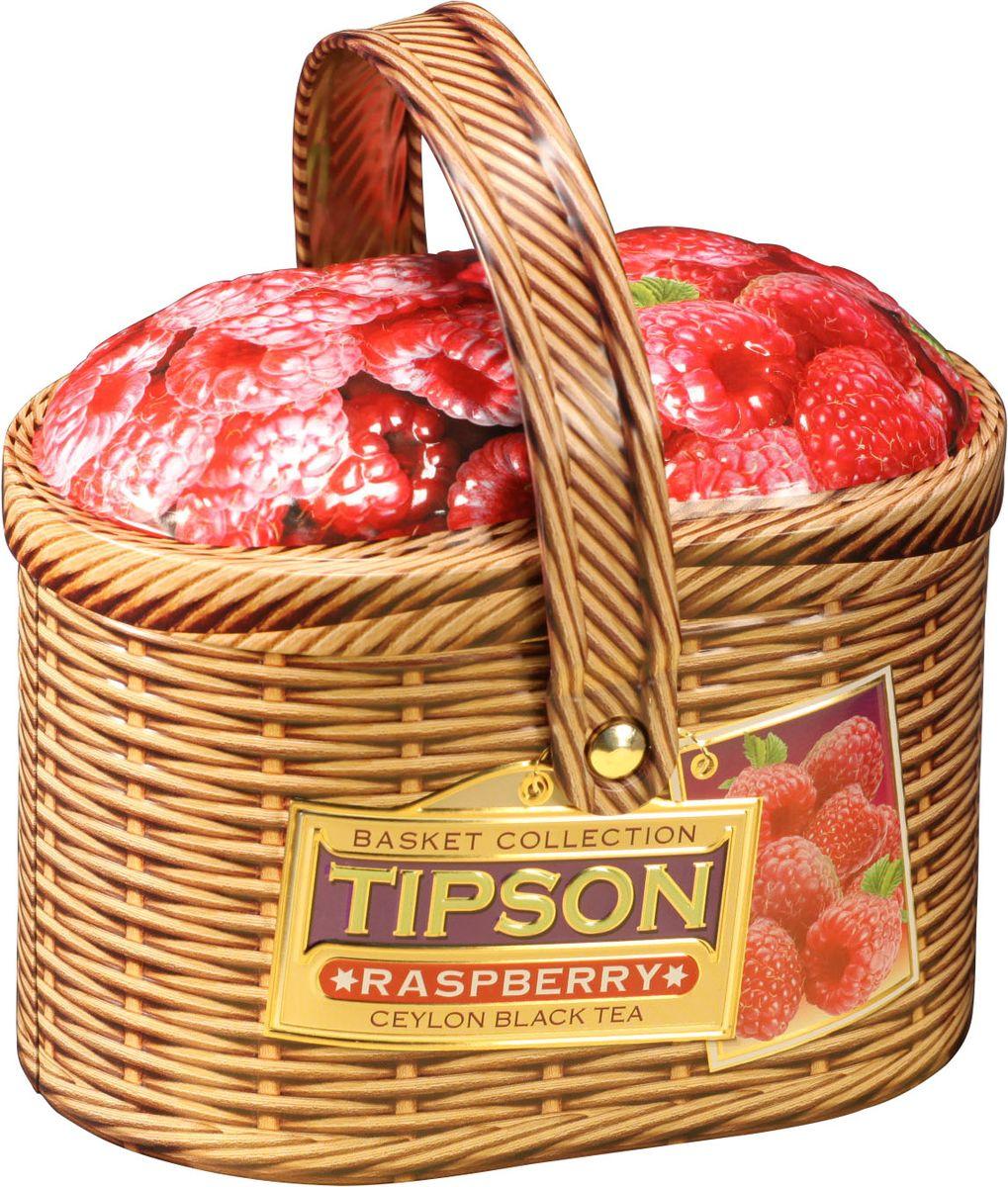 Tipson Basket-Raspberry чай черный листовой с кусочками папайи и малины, 80 г80128-00Чай чёрный цейлонский байховый листовой с кусочками папайи и ароматом малины.