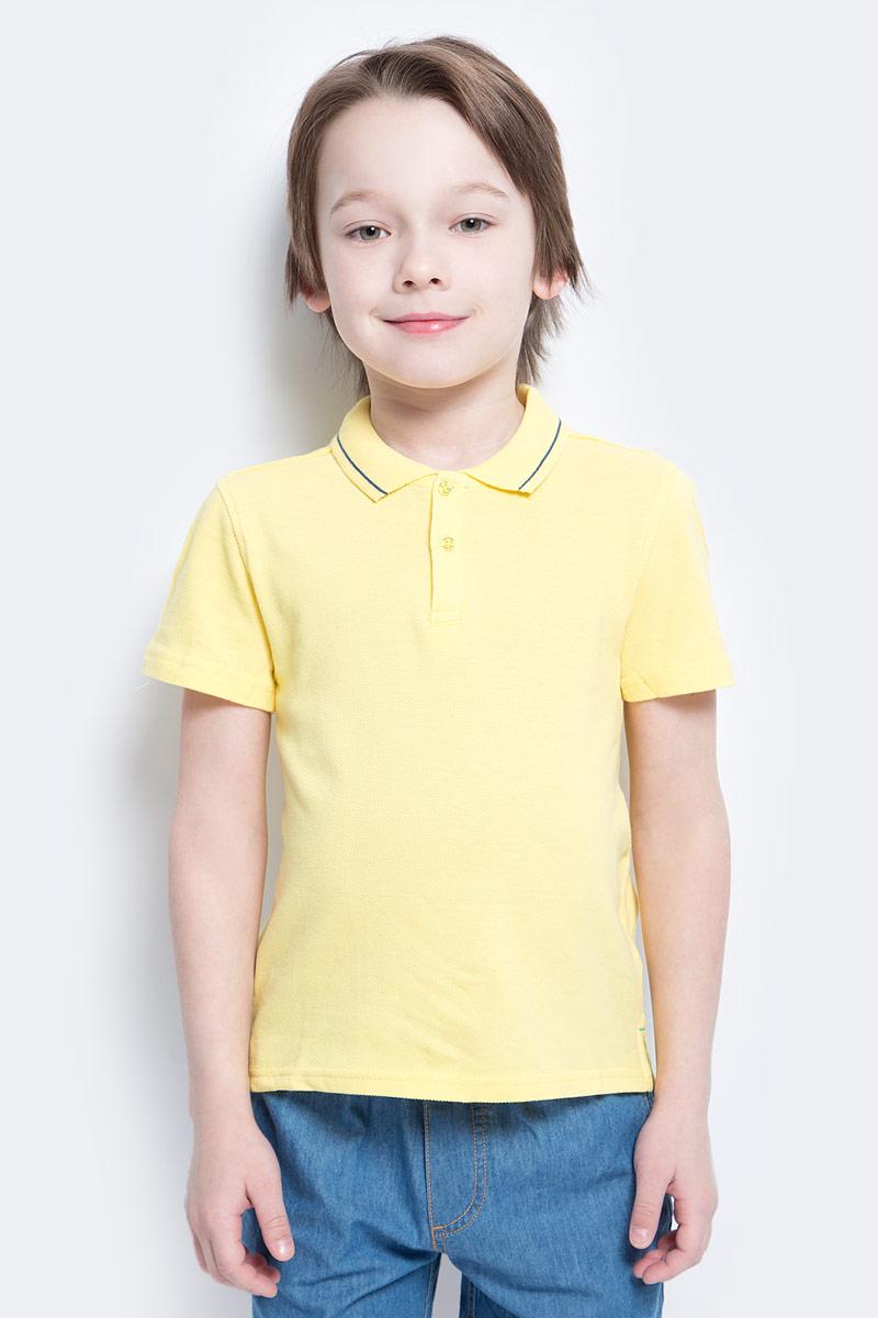 Поло для мальчика Button Blue Main, цвет: желтый. 117BBBC14012700. Размер 104, 4 года