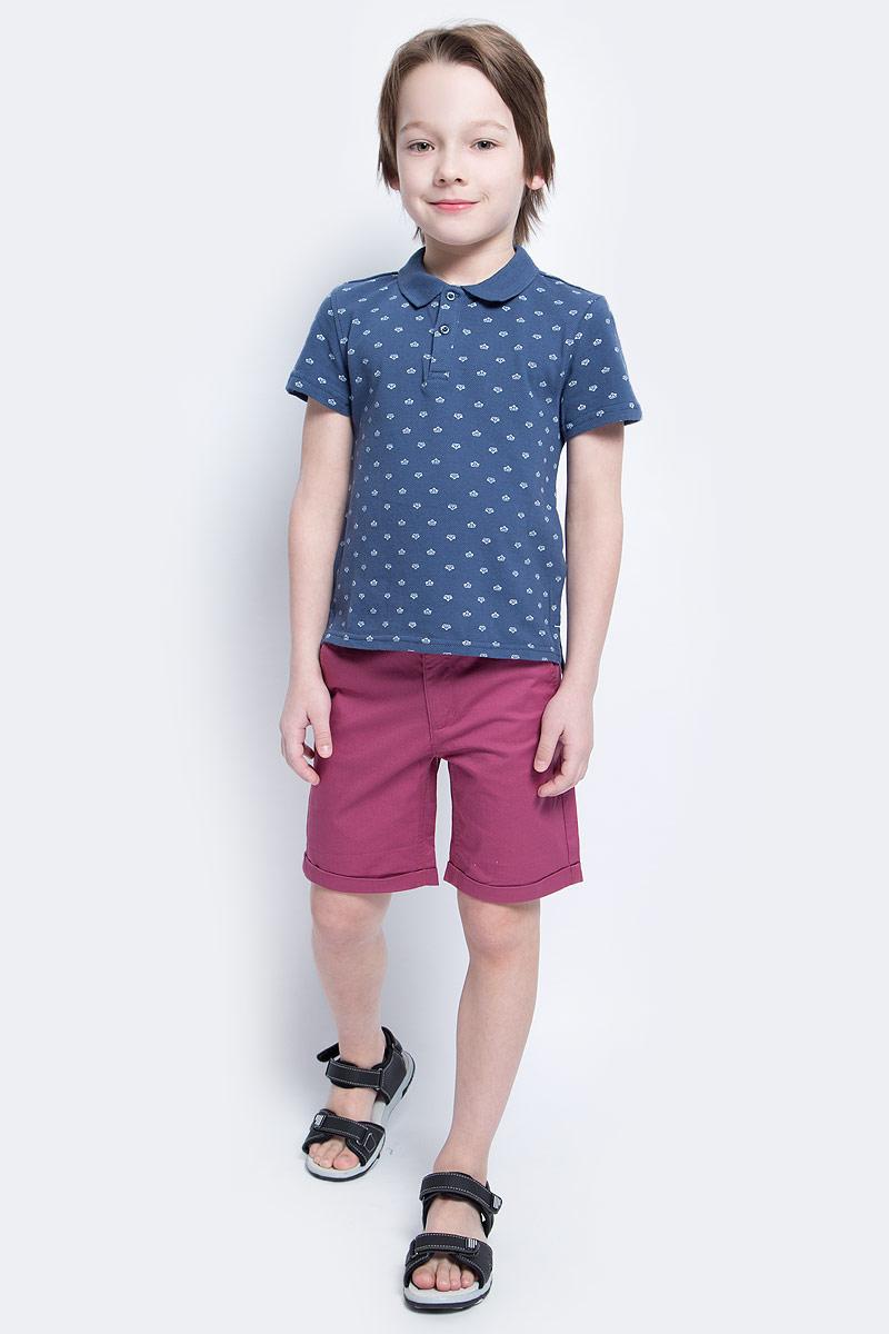 Шорты для мальчика Button Blue Main, цвет: брусничный. 117BBBC60020300. Размер 98, 3 года джинсы для девочки button blue main цвет голубой 117bbgc6304d200 размер 98 3 года