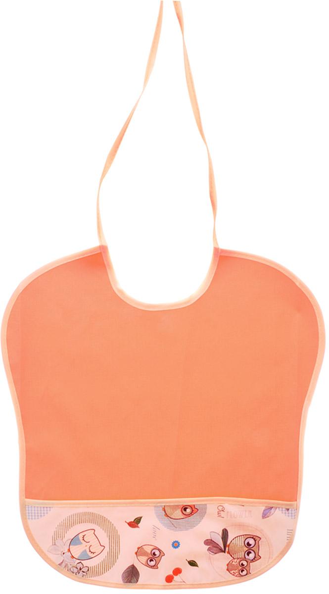 Колорит Нагрудник с карманом Совы цвет оранжевый 33 х 33 см колорит нагрудник с карманом цвет желтый оранжевый 33 см х 33 см