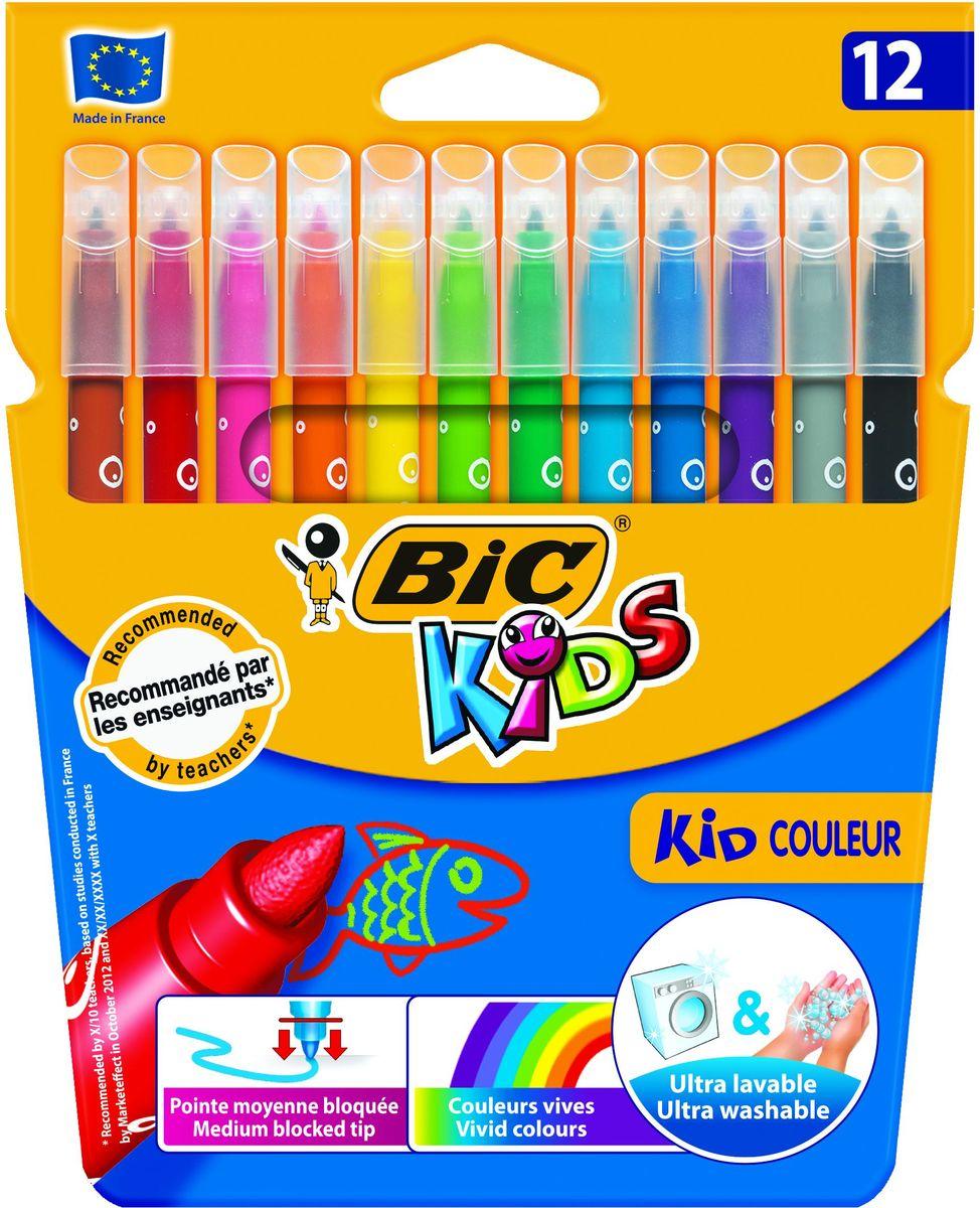 Bic Фломастеры Kid Couleur смываемые 12 цветов фломастеры bic kids kid couleur 12 цветов
