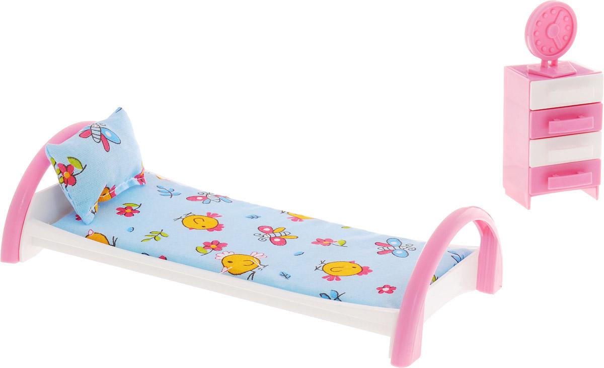 Форма Кровать с тумбочкой для кукол Цыплята цвет голубой goki мебель для кукольной больницы комната ожидания 14 предметов