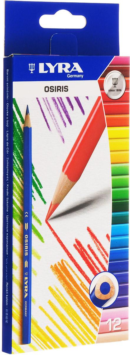 Lyra Набор цветных карандашей Osiris 12 штL2521120Цветные карандаши Lyra Osiris понравятся вашему юному художнику.Набор включает в себя 12 ярких насыщенных цветных карандашей треугольной формы для удобного захвата. Карандаши изготовлены из дерева, экологически чистые. Имеют прочный неломающийся грифель, не требующий сильного нажатия, легко затачиваются.