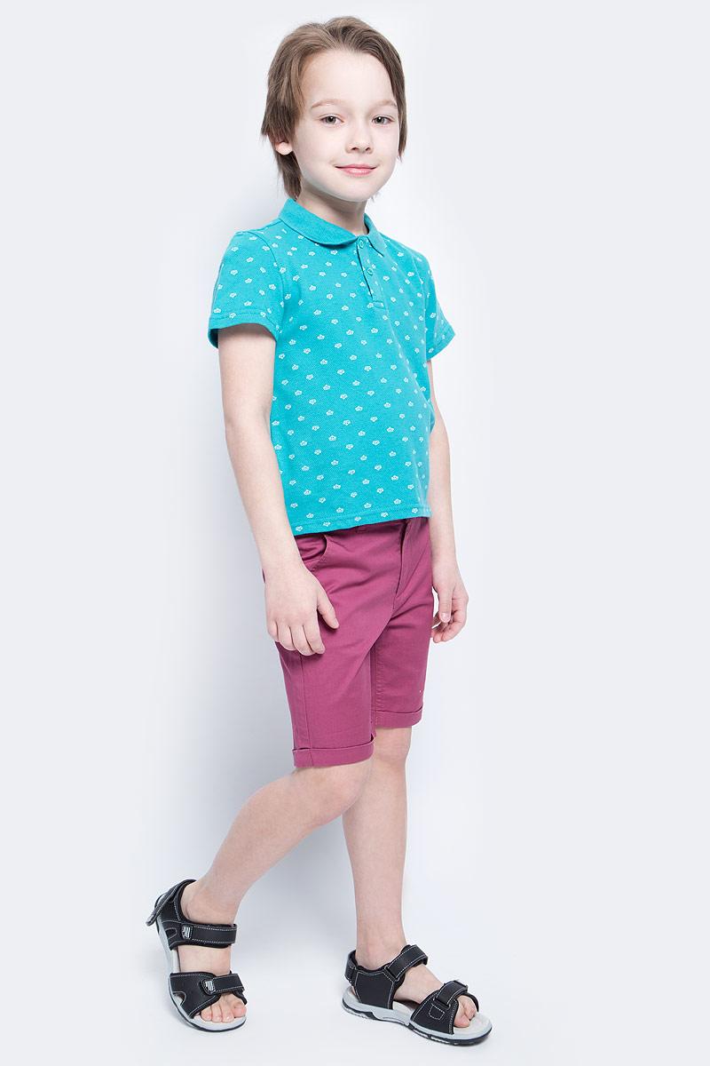 Поло для мальчика Button Blue Main, цвет: бирюзовый. 117BBBC14012813. Размер 140, 10 лет117BBBC14012813Футболка-поло - изделие из разряда Must Have. Это не только базовая вещь в гардеробе ребенка, но и залог хорошего летнего настроения. Если вы решили купить недорогуюфутболку-поло для мальчика, выберете эту модель от Button Blue и ваш ребенок будет доволен.