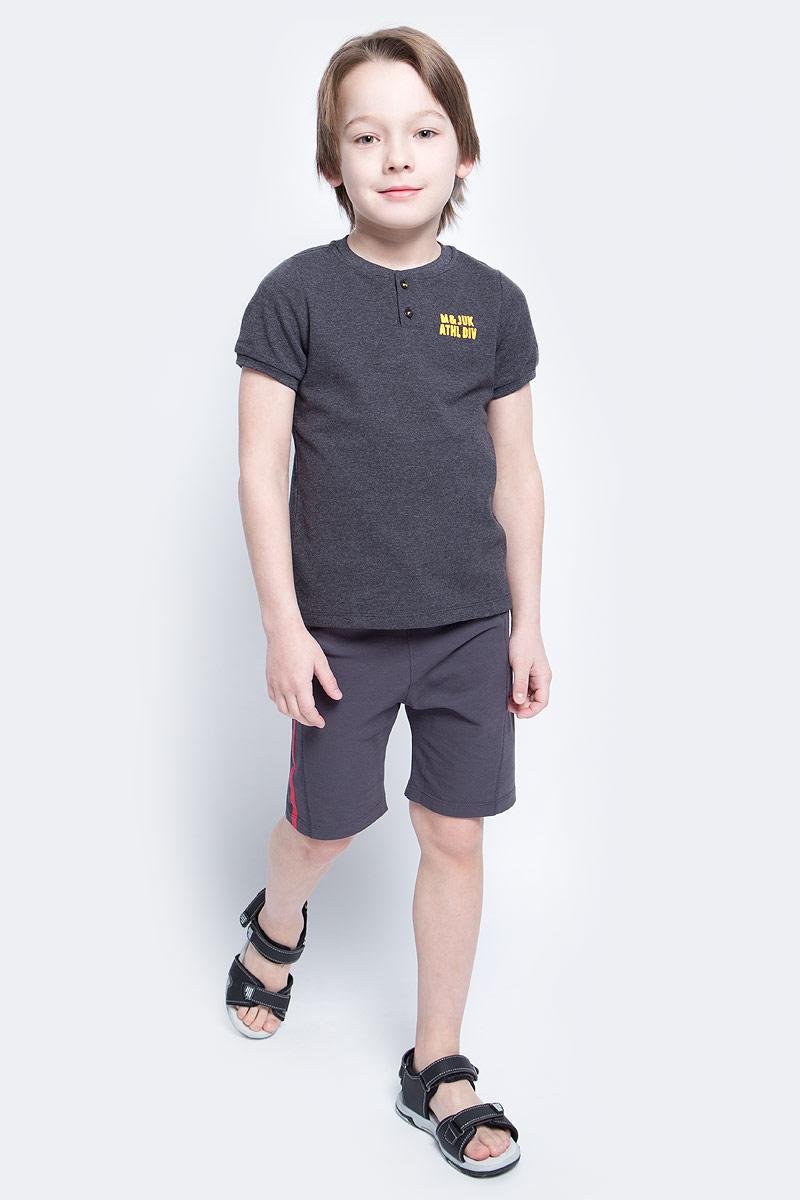 Шорты для мальчика Modniy Juk MJ Soccer, цвет: бордовый, серый. 10В00070300. Размер 122