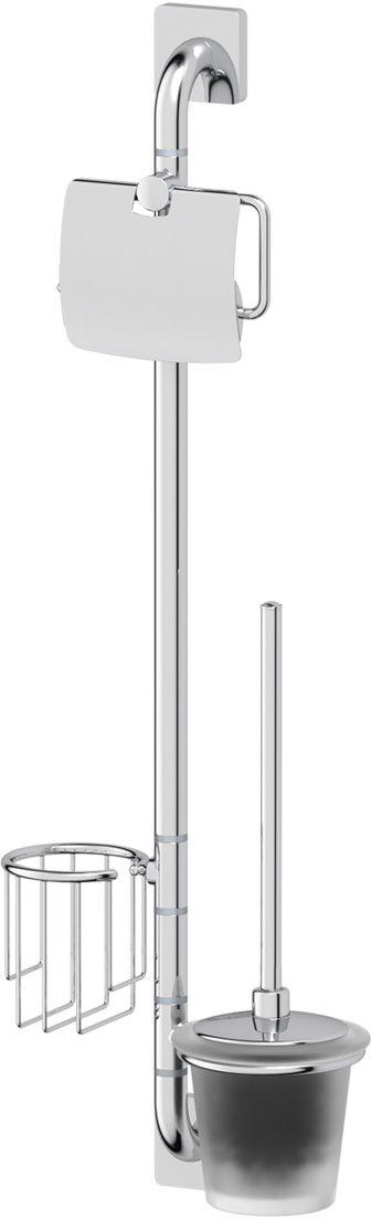 Штанга комбинированная для туалета Ellux Avantgarde, цвет: хром. AVA 075AVA 075Преимущество штанги Avantgarde очевидно - минимизируется трудоемкое сверление стен, соблюдается компактность расположения в ванной комнате с целью экономии пространства. Аксессуары устанавливаются в поворотные крепления, чем достигается компактность конструкции и функциональность её эксплуатации. В производстве аксессуара бренда ELLUX используется высокосортная латунь, которая является идеальным материалом для эксплуатации в условиях повышенной влажности. Трудоемкая ручная полировка изделий до зеркального блеска и строгое соблюдение технологического цикла при гальванизации хромом обеспечивают идеально гладкую поверхность и высокую устойчивость покрытия. Богемский хрусталь, используемый в производстве стеклянных компонентов аксессуара, подчеркивает благородство продукции ELLUX. Хром - очень прочный, износостойкий металл, обладающий корозийной стойкостью. Дизайн и конструкция предмета продумана так, что все крепежные элементы не видны при его использовании.