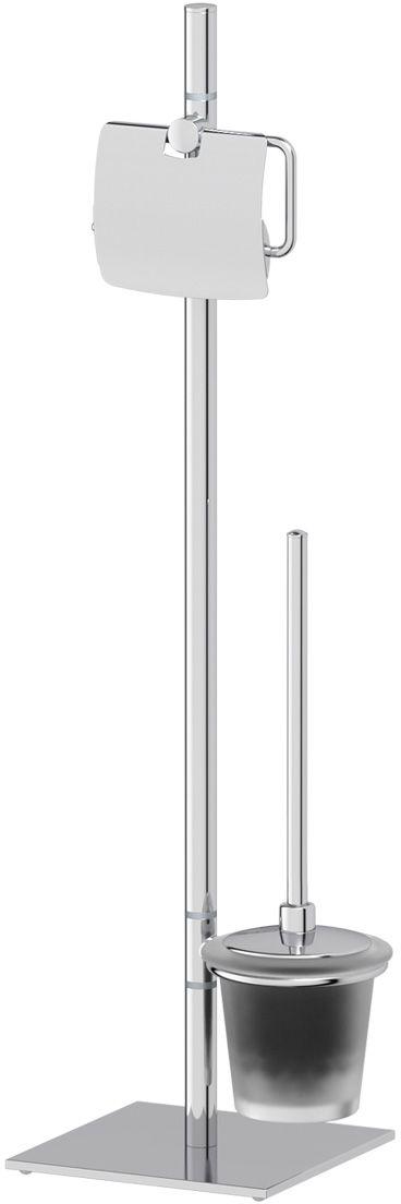 Стойка для туалета Ellux Domino, цвет: матовый хрусталь, хром,с 2 аксессуарами, 72 смDOM 007Стойка для туалета Ellux Domino состоит из стойки, ершика, держателя для ершика и держателя туалетной бумаги. Высококачественная латунь, используемая в производстве аксессуаров, позволяет добиваться идеального результата в готовом изделии. Высококачественная латунь - дорогостоящий многокомпонентный медный сплав с основным легирующим элементом - цинком. Обладает высокой прочностью и коррозионной стойкостью. Считается лучшим материалом для изготовления аксессуаров, смесителей и другого сантехнического оборудования. Аксессуары торговой марки Ellux производятся на заводе ELLUX Gluck s.r.o., имеющем 20-летний опыт работы. Предприятие расположено в Злинском крае, исторически знаменитом своим промышленным потенциалом. Компоненты из всемирно известного богемского хрусталя выгодно дополняют серии аксессуаров. Широкий ассортимент, разнообразие форм, высочайшее качество исполнения и техническое?совершенство продукции отвечают самым высоким требованиям. Продукция завода Ellux представлена на российском рынке уже более 10 лет и за это время успела завоевать заслуженную популярность у покупателей, отдающих предпочтение дорогой и качественной продукции. 100% made in Czech Republic Весь цикл производства изделий осуществляется на территории Чешской республики.Гарантия 15 лет. Длительный срок службы подтверждается 15-ти летней гарантией производителя при условии правильной эксплуатации.Проверенное временем качество продукции завода ELLUX Gluck s.r.o. позволяет производителю гарантировать длительный срок ее эксплуатации. Комбинированные штанги и стойки позволяют использовать необходимые аксессуары, сокращая количество отверстий при монтаже. Аксессуары устанавливаются в поворотные крепления, чем достигается компактность конструкции и функциональность её эксплуатации.Премиум качество. Находясь в более доступном ценовом сегменте, аксессуары торговой марки ELLUX обладают всеми качествами продукции