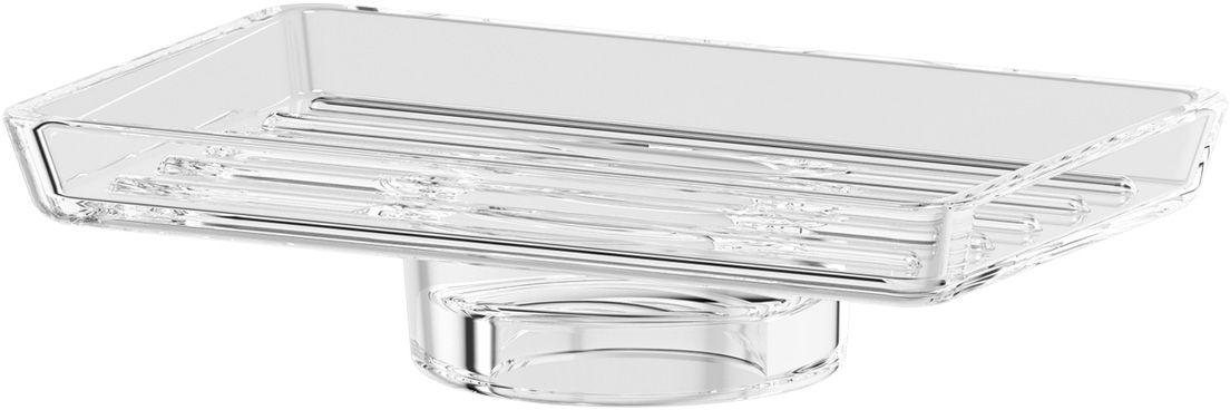 Мыльница Ellux, для AVA, цвет: хрусталь. ELU 007ELU 007Мыльница Ellux благодаря своему оригинальному дизайну станет стильным аксессуаром, который украсит интерьер вашей ванной комнаты. Аксессуары торговой марки Ellux производятся на заводе ELLUX Gluck s.r.o., имеющем 20-летний опыт работы. Компоненты из всемирно известного богемского хрусталя выгодно дополняют серии аксессуаров. Богемский хрусталь знаменитой фабрики Crystal Bohemia, a.s., используемый в производстве стеклянных компонентов аксессуаров, подчеркивает благородство продукции завода ELLUX.Высококачественная латунь, используемая в производстве аксессуаров, позволяет добиваться идеального результата в готовом изделии.