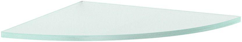 """Полка для ванной """"Ellux"""", угловая, 26 см, цвет: матовое стекло. ELU 023"""