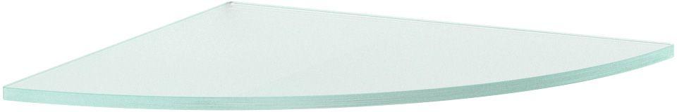 """Полка для ванной """"Ellux"""", угловая, 30 см, цвет: матовое стекло. ELU 024"""